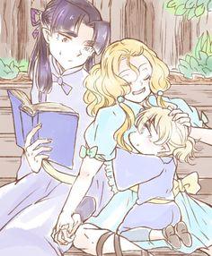 Тургон, Финрод и Ородрет в детстве