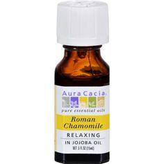 Aura Cacia Roman Chamomile Pure Essential Oil - 0.5 fl oz - TPS Shopping Site