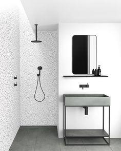 Bathroom Designs Ideas, best kitchen design, new modern small bathroom and bathub decor renovations and remodeling, bathroom shower tile ideas, layout. Mold In Bathroom, Bathroom Carpet, Bathroom Basin, Modern Bathrooms Interior, Black Bathrooms, Interior Modern, Bathroom Design Small, Bathroom Designs, Bathroom Ideas