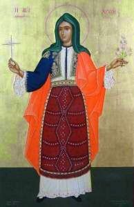 Zlata (Chryse) the New Martyr (Feast Day - October By St. Nikodemos the Hagiorite Verses In torments, O Chryse, thou wast as b. Religious Paintings, Religious Art, Lives Of The Saints, Roman Church, St Clare's, Spiritual Images, Byzantine Icons, Orthodox Christianity, Beautiful Forest