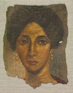 Egypt, Roman Empire, Antonine, encaustic on linen, Overall - h:25.00 w:19.60 cm (h:9 13/16 w:7 11/16 inches). John L. Severance Fund 1971.136
