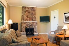 Later cozy up in front of the fireplace for a relaxing evening. Spa Offers, Romantic Destinations, Luxury Accommodation, Nova Scotia, Resort Spa, Golf, Cottage, Home Decor, Decoration Home
