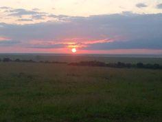 Stunning sunset over Masai Mara!