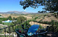 Garden in a Hotel in Ronda, Enfrente Arte, love the surfing tables