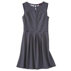 Merona® Women's Textured Sleeveless Keyhole Neck Dress - Navy/White