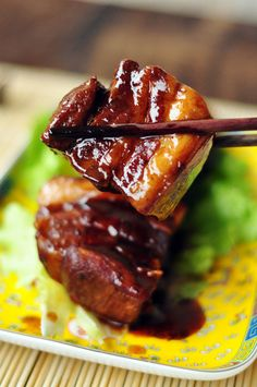 braised pork belly.