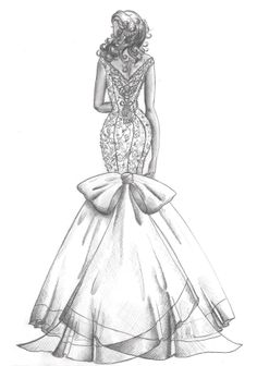 How to Draw a Fashionable Dress - Drawing On Demand Dress Design Drawing, Dress Design Sketches, Fashion Design Sketchbook, Fashion Design Drawings, Dress Drawing, Fashion Sketches, Fashion Drawing Dresses, Fashion Illustration Dresses, Fashion Dresses