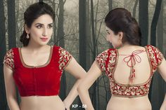 Looking for Blouse Neck Designs? Do check out this interesting post about latest Blouse Models for Sarees that you can use for your next embroidery project. Best Blouse Designs, Blouse Back Neck Designs, Bridal Blouse Designs, Indiana, Sari Bluse, Pattu Saree Blouse Designs, Designer Blouse Patterns, Blouses, Red Saree