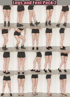 Legs and Feet Pack 2 by Kxhara.deviantart.com (Kxhara, 2012)