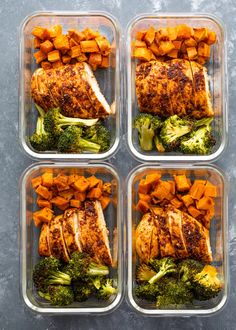 Healthy one-pan chicken, sweet potatoes, and broccoli oven-roasted to perfection! This quick one-pan dish is packed full of flavor and is GREAT for meal Easy Healthy Meal Prep, Easy Healthy Recipes, Healthy Snacks, Easy Meals, Easy Lunch Meal Prep, Meal Prep For Work, Meal Prep For The Week Low Carb, Healthy To Go Meals, Healthy Chicken Meals