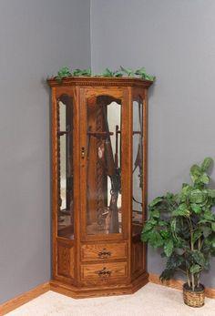 Amish Mt. Eaton Corner Swivel 10 Gun Cabinet   Roudly Display Your Guns In  This