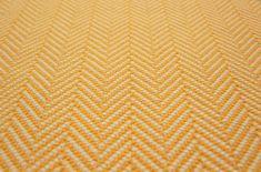 Herringbone Flatweave Marigold Carpet by Hartley and Tissier