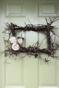I want this for my front door.  Twig wreath.