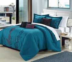Chic home Gazebo 8-Piece Embroidered Comforter Set, Blue Queen Chic Home,http://www.amazon.com/dp/B00FMNJ4WA/ref=cm_sw_r_pi_dp_02wZsb0YAQF33HG7