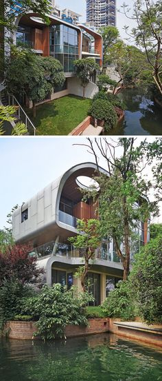 20 Exterior Pictures Of A Modern House Development In China By John Friedman Alice Kimm Architects Innovative Architecture, Landscape Architecture Design, Green Architecture, Chinese Architecture, Residential Architecture, Amazing Architecture, Timber Buildings, Design Your Dream House, House Design