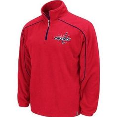 Reebok Washington Capitals Red Final Score Quarter Zip Pullover Fleece Jacket (X-Large) by Reebok. $39.99. Keep warm while rooting for your favorite team on gameday with this Final Score 1/4 Zip Fleece pullover sweatshirt from Reebok. It features contrasting team colors, embroidered team name on the chest and logo on the top center back, woven Reebok tag on bottom hem, Reebok zipper pull, and front seam pockets. Officially Licensed by the NHL and is made of 100% polyester fleece ...
