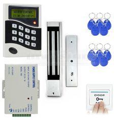 96.95$  Buy now - http://alisof.worldwells.pw/go.php?t=1196891219 - DIYSECUR RFID ID Card Keypad Door Access Control System Kit +Electric Magnetic Door Lock +Free 10 ID Key Fobs B100