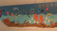Decoración pasillo colegio el mar