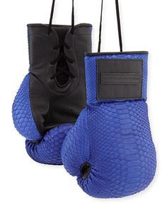 Python Boxing Gloves, Electric Blue by Elisabeth Weinstock at Neiman Marcus.