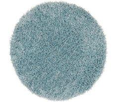 Shaggy szőnyeg: világoskék, 30% PES, 70% polipropilén, kerek, Átm: kb. 67 cm