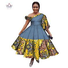 Image of New Arrival Summer Women Dress Casual Printed Dashiki Women's African Dress Irregular Private Customized Dresses BRW Short African Dresses, Latest African Fashion Dresses, African Print Dresses, African Print Fashion, Africa Fashion, Maxi Dress Summer, Fashion Trends 2018, Women's Dresses, African Print Dress Designs