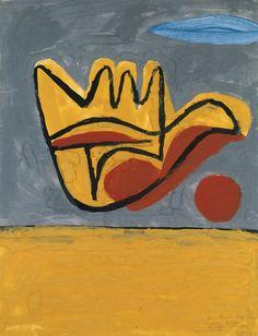 Le Corbusier, La Main Ouverte (1950)La main ouverte est l'expression symbolique du  message que Le Corbusier a voulu exprimer dans l'ensemble de ses travaux (…) «Nous devons être en demande d'œuvres de paix,»  dit Le Corbusier. «Les outils dans la main. Les caresses de la main.  La vie que l'on goûte par le pétrissement des mains. La vue qui est dans  la palpation. Pleine main j'ai reçu, pleine main je donne».