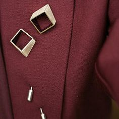 Square Pins No1 (Silver/Enamel) Silver Enamel, Tie Clip, Jewelery, Cufflinks, Accessories, Jewelry, Jewels, Bijoux, Schmuck