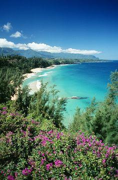 Bali Hai Beach, Hanalei Bay, Kauai, Hawaii