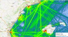Balearic Sea, Marine Traffic, Oceans, Maps, Fair Grounds, Travel, Viajes, Blue Prints, Destinations