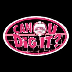 Variety of Can You Dig It Volleyball shirts and gift ideas by Mudge Studios. Cool VolleyBall graphics feature our Pink variations of our volleyball rocks vball with Can U Dig It slogan. Great volleyball gift ideas for the volleyball playing family, high school, club and college volleyball teams and friends.