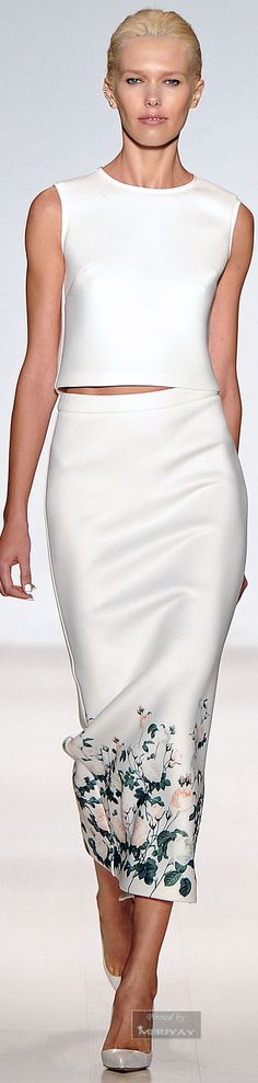 Erin Fetherston Spring Summer 2015 Ready-To-Wear White Fashion, Love Fashion, Spring Fashion, Fashion Beauty, Fashion Design, White Outfits, Cool Outfits, Skirt Outfits, Beautiful Gowns