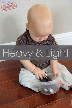 Heavy & Light: Simple Play Activities for Babies #knoala