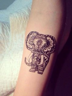 Elephant tattoo... Is this design the beginning of a sleeve? ;)