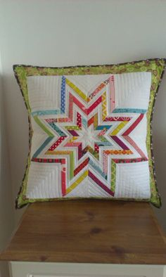 Triple star made using Lilysquilts pattern.  Paper pieced all the way!