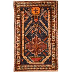 Herat Oriental Afghan Hand-knotted Tribal Balouchi Blue/ Brown Wool Rug (3' x 5') - Overstock Shopping - Big Discounts on Herat Oriental One of a Kind
