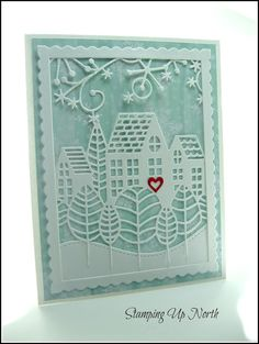 stamping up north: Lots of die cuts! poppy stamps, Christmas cards,Memory box,