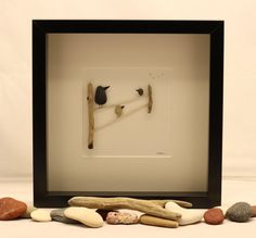 Pebble art picture Birds