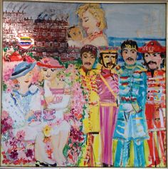 Sjovt billede af Tovie Roos på Comwell Holte. Billede af Sgt. Pepper's Lonely Hearts Club Band is the eighth studio album by the English rock band the Beatles. Released on 1 June 1967.