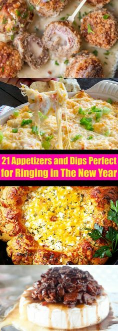 21 Appetizers and Dips Perfect  for Ringing in The New Year