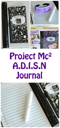 Project Mc² A.D.I.S.N Journal. This journal is so cute and helps up your spy game!!!!(if you know what I mean)