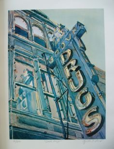 Austin Texas Grove Drugs Limited edition print by CynART on Etsy