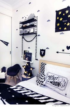 Bondville: Monochrome toddler's room by Young Folk