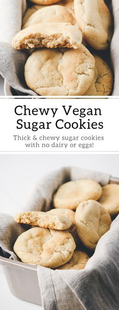 Thick & Chewy Vegan Sugar Cookies Vegan Cake liv b vegan mug cake Dessert Party, Dessert Oreo, Vegan Treats, Vegan Foods, Vegan Snacks, Cookies Healthy, Vegan Sugar Cookies, Vegan Mug Cake, Vegan Art
