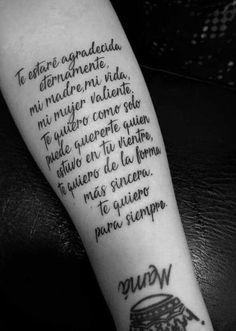 Mama Tattoo, Mom Dad Tattoos, Baby Tattoos, Love Tattoos, Body Art Tattoos, Tattoos For Women, Tatoos, Phrase Tattoos, Tattoo Quotes