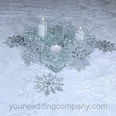 Winter Wedding Centerpeice.  Christmas would work too,  I have a ton of these in gold from Targe'!
