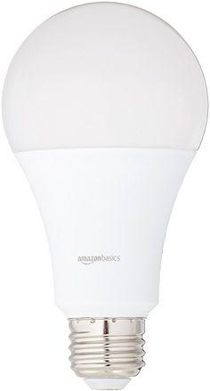 AmazonBasics 100 Watt Equivalent, Daylight, Non Dimmable, A21 LED Light  Bulb | 6 Pack