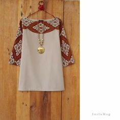 simple batik blouse: