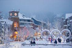 Winter wonderland in Whistler Village-  BC