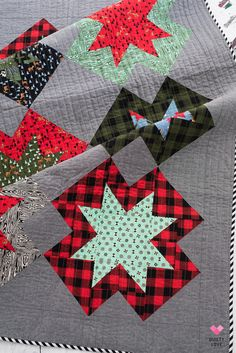 788152c68861 Christmas North Star Quilt   The Holiday Homies one
