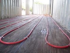 Container House - Radiant heat why didn't i think of that? - #shippingcontainer #containerhome #shippingcontainer Who Else Wants Simple Step-By-Step Plans To Design And Build A Container Home From Scratch?